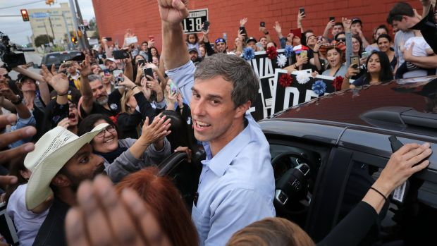 Beto O'Rourke is fourth-generation Irish. His mother was the stepdaughter of Fred Korth, the secretary of the Navy under John F Kennedy. Photograph: Chip Somodevilla/Getty Images
