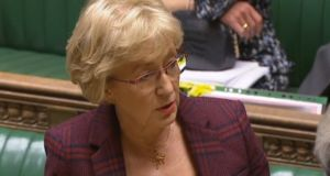Leader of the House of Commons Andrea Leadsom. Photograph: House of Commons/PA Wire