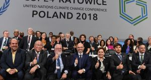 Delegates at the COP24 UN Climate Change Conference in Katowice, Poland, last week.  Photograph: Marek Zimny/EPA