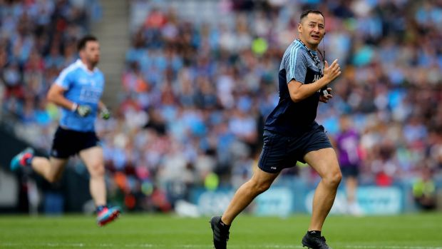 "Jason Sherlock at Croke Park this summer. ""Being back involved in Dublin in 2015 put me at peace as a sportsperson."" Photograph: Ryan Byrne/Inpho"