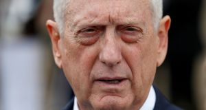 File image of US defence secretary Jim Mattis. File photograph: Joshua Roberts/Reuters