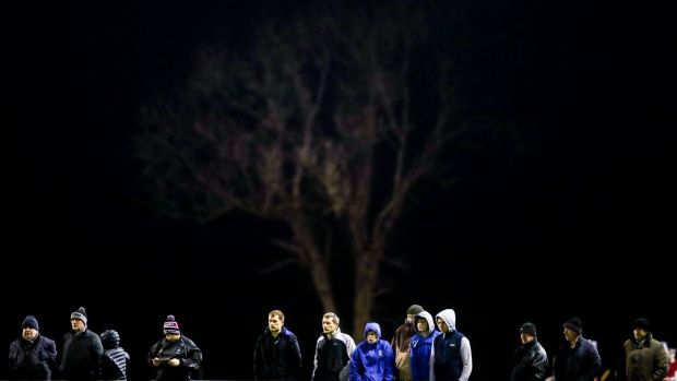 Supporters at the O'Byrne Cup match at Faithful Fields in Kilcormac. Photograph: Tommy Dickson/Inpho