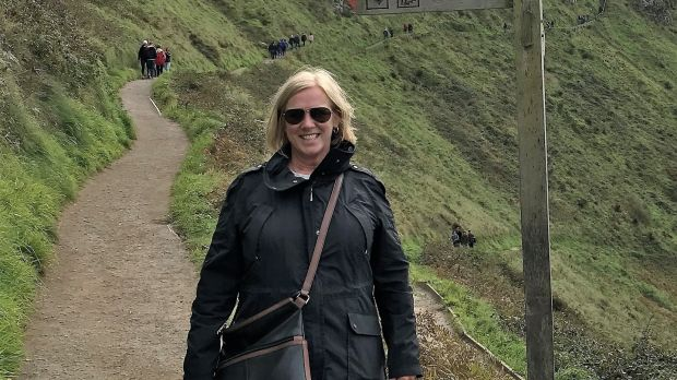 Morag McLean at the Giant's Causeway during her visit to Ireland earlier this year.