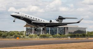 A Gulfstream  G650, the biggest, fastest, and overall best private jet money can buy. The Perrigo tax bill would fund 28 of them.