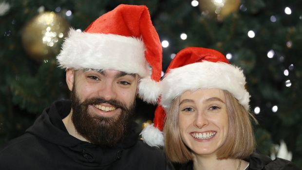 Jake McCabe and Niamh O'Donoghue from Dublin are heading to Bali for Christmas. Photograph: Lorraine O'Sullivan/The Irish Times