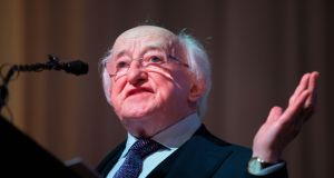 President Michael D Higgins  acknowledged those for whom Christmas this year is overshadowed by circumstances. File photograph: Tom Honan