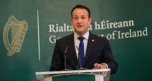 Taoiseach Leo Varadkar said it was unacceptable that social media companies would not take down some of the posts about the eviction in Co Roscommon. Photograph: Gareth Chaney/Collins