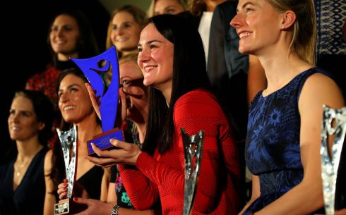 GOOD SPORT: Boxer Kellie Harrington is named the 2018 'Irish Times' Sportswoman of the Year, at the Shelbourne Hotel, Dublin. Photograph: INPHO/Ryan Byrne