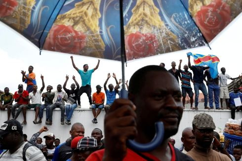 DRC UNREST: Opposition supporters attend an election event in Kinshasa, Democratic Republic of Congo. Photograph: Baz Ratner/Reuters