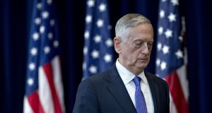 James Mattis, US secretary of defence: his decision to quit  came after the US president Donald Trump confirmed he is ending all US military operations in Syria and Afghanistan. Photograph: Andrew Harrer/Bloomberg