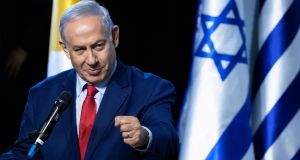Israeli prime minister Benjamin Netanyahu said  US had informed him in advance about their troop withdrawal. Photograph: EPA/Jim Hollander