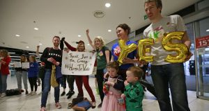 Emigrants travelled back to Ireland from all over the world in May 2018 to vote in the referendum on the Eighth Amendment. Photograph: Nick Bradshaw/The Irish Times