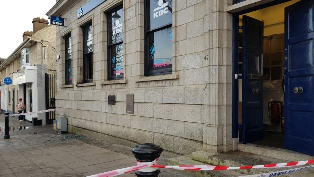 Arson attack took place at the KBC bank premises on the Main Street in Swords at 5.18am.