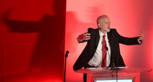 Labour leader Jeremy Corbyn is being criticised within his party for his Brexit stance. Photograph: Owen Humphreys/PA Wire