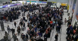 Drone disruption: 140,000 passengers were affected at Gatwick airport. Photograph: REUTERS/Peter Nicholls