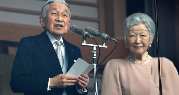 Emperor Akihito Delivers His Last Birthday Speech Next To Empress Michiko At The Imperial Palace In