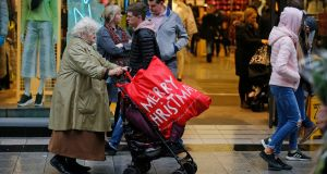 Shoppers in Dublin city centre on Sunday afternoon. Photograph: Nick Bradshaw