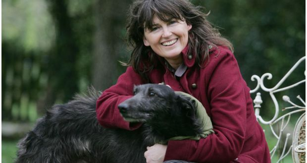 Eileen Battersby with one of her dogs 'Kingsley' in 2011. File photograph: Bryan O'Brien