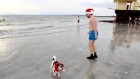 Swimmers take a Christmas Day dip in Galway