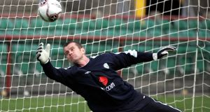 Goalkeeper Shay Given pictured at a Republic of Ireland training session at Lansdowne Road during his playing career. Photograph: Eric Luke