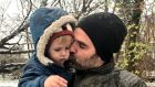 Rob Delaney with his two-year-old son, Henry, who died last January. Photograph: Rob Delaney/Facebook