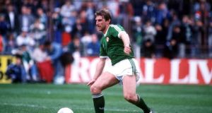 John Anderson in action against Brazil in 1987. Photograph: Bob Thomas/Getty Images