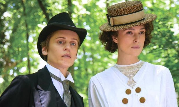 Keira Knightley with Denise Gough in Colette