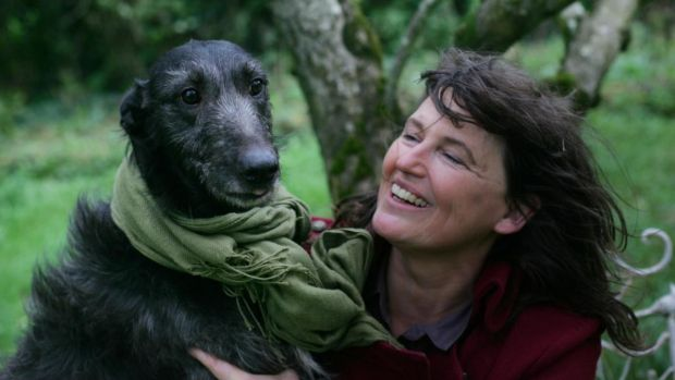 Eileen Battersby with Kingsley, one of her dogs, in 2011. Photograph: Bryan O'Brien