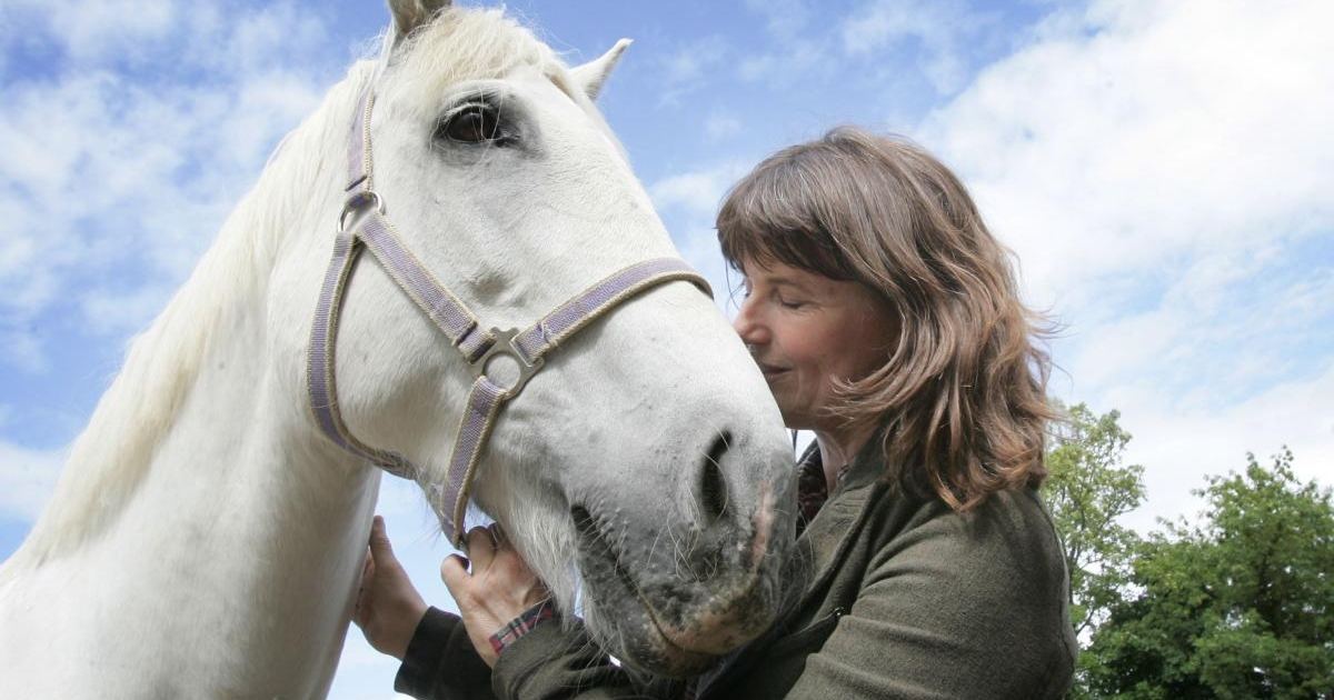 Eileen Battersby with her horse Sophie in 2010. Photograph: Alan Betson
