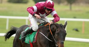 Defi Bleu ridden by Davy Russell at Navan Racecourse. Photograph: Peter Mooney/Inpho