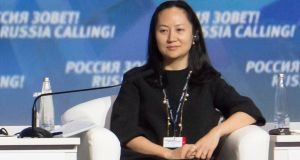 Huawei executive Meng Wanzhou  in Moscow in 2014. She is fighting extradition to the US, where she would face fraud charges that carry a maximum sentence of 30 years jail for each charge.  File photograph: Alexander Bibik/Reuters