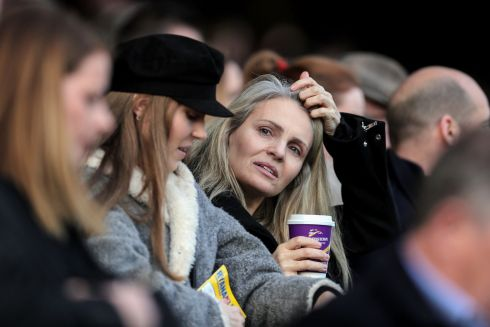 TIME OUT: Racegoers relax at Leopardstown on the last day of the Christmas festival. Photograph: Laszlo Geczo/Inpho