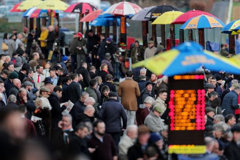 BIG DAY OUT: A glance through the crowds at Leopardstown. Photograph: Laszlo Geczo/Inpho