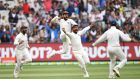 India celebrate their third Test win over Australia in Melbourne. Photograph: Julian Smith/Reuters