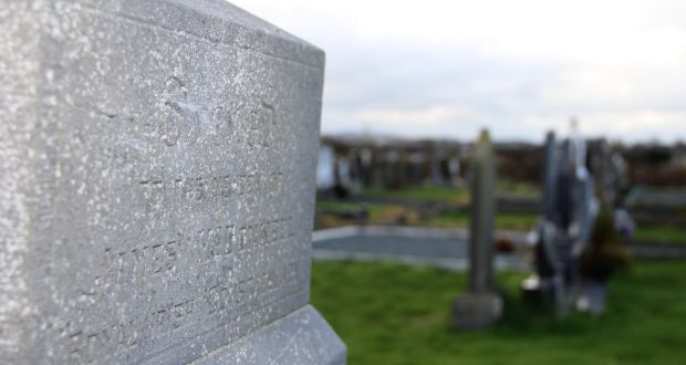 The faded headstone to constable James McDonnell of the Royal Irish Constabulary, who was killed during the Soloheadbeg ambush, states that he died in the line of duty. Photograph: Ronan McGreevy