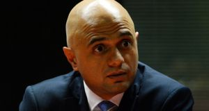 British home secretary Sajid Javid  cut short his Christmas break  to deal with an influx of migrants.  File photograph:   PA Wire