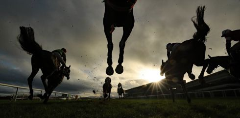 UNDER THE HOOF: The Neville Hotels Novice Steeplechase on day four of the Leopardstown Christmas Festival at Leopardstown Racecourse in Dublin. Photograph: Niall Carson/PA Wire