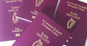 Minister for Foreign Affairs Simon Coveney said 2018 was a record-breaking year with a total of 822,581 travel documents issued. Photograph: Bryan O'Brien