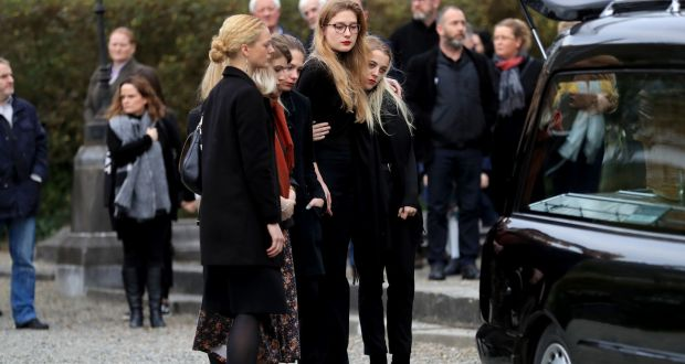 Mourners at the funeral of Eileen Battersby in Drogheda at St Peter's Church, Drogheda, Co Louth.  Photograph: Donall Farmer