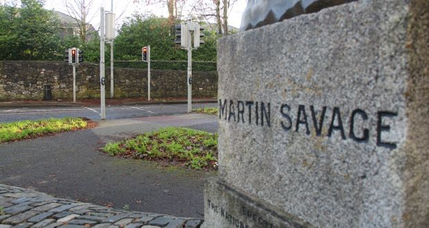 Memorial at Ashtown, Co Dublin, to volunteer Martin Savage, who died during the failed assassination attempt