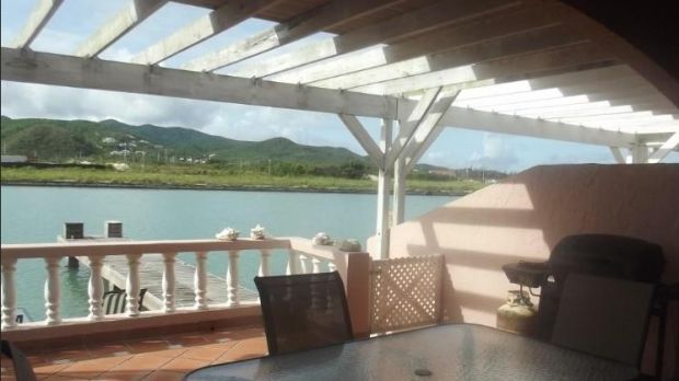 Barbuda and Antigua: The open-plan living space overlooks the water