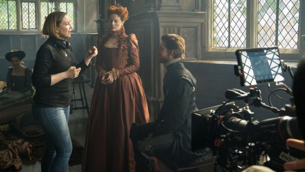 Josie Rourke on set of Mary Queen of Scots