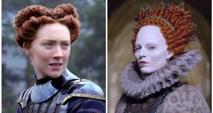 Saoirse Ronan as Mary Queen of Scots, and Margot Robbie as Elizabeth I