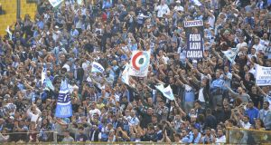 Lazio fans have long been associated with fascism. Photo: Marco Rosi/Getty Images