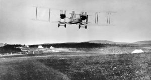 John Alcock and Arthur Whitten Brown's transatlantic aircraft crossed the Atlantic between St John's, Newfoundland and Clifden, Ireland on June 15th, 1919. (Photograph: SSPL/Getty Images