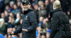 Liverpool boss Jürgen Klopp insisted Manchester City remain the best team in the world ahead of their crunch clash at the Etihad on Thursday. Photograph:  Martin Rickett/PA Wire