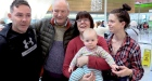 Hugs and tears at Dublin Airport as families part after Christmas