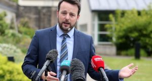 SDLP leader Colum Eastwood has with deputy leader Nichola Mallon written to party members assuring them that any relationship with Fianna Fáil would be for the party to endorse or reject. Photograph: Niall Carson/PA Wire