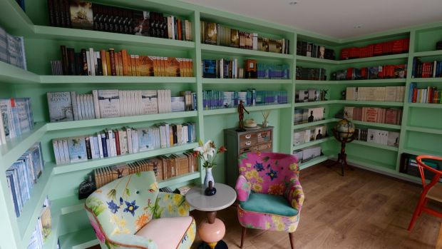 Books and more books: inside John Boyne's home. Photograph: Alan Betson/The Irish Times