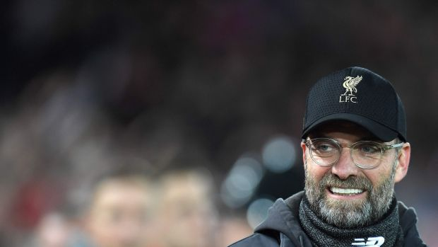 Bringing the league title back to Anfield after nearly 30 years? Liverpool's manager Jurgen Klopp is on track to achieving greatness. Photograph: Paul Ellis/AFP/Getty Images